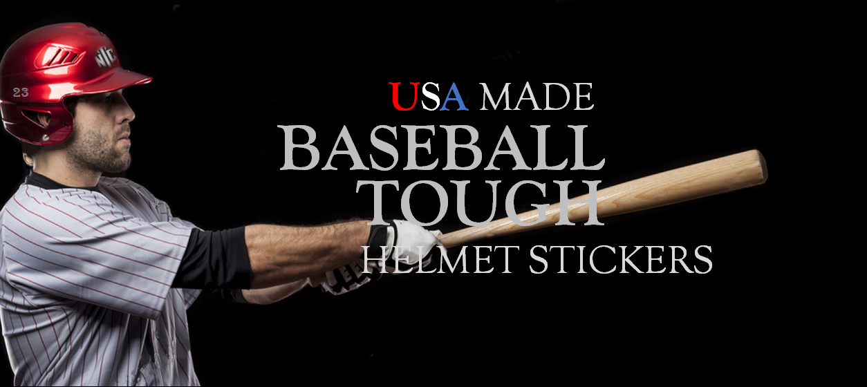 Baseball Helmet Stickers