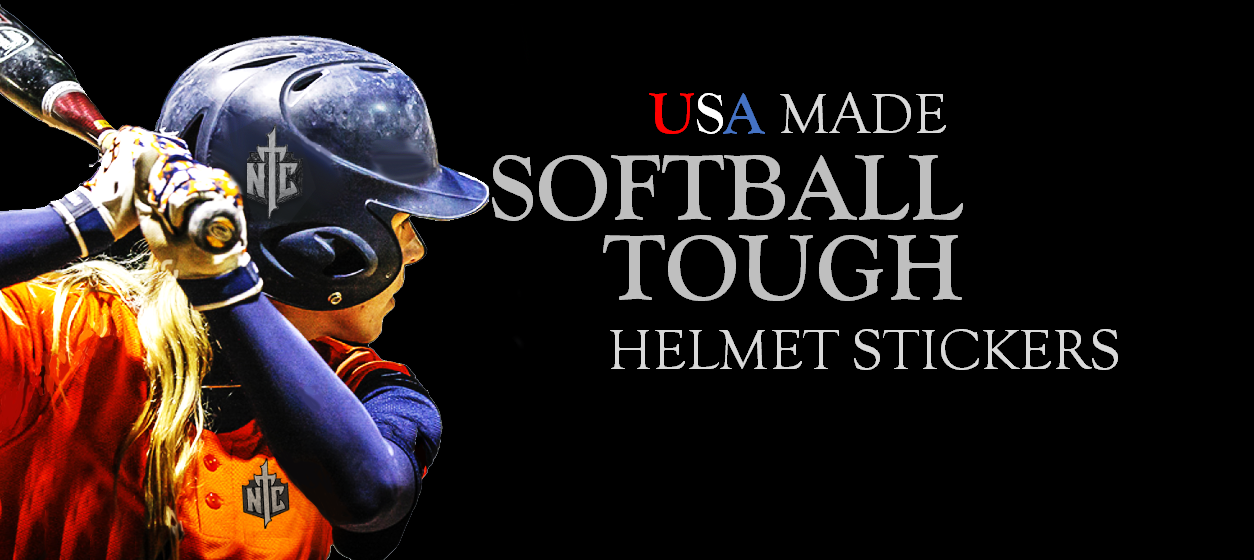 Softball Helmet Stickers