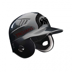 Baseball He;met Stickers On Black Helmet