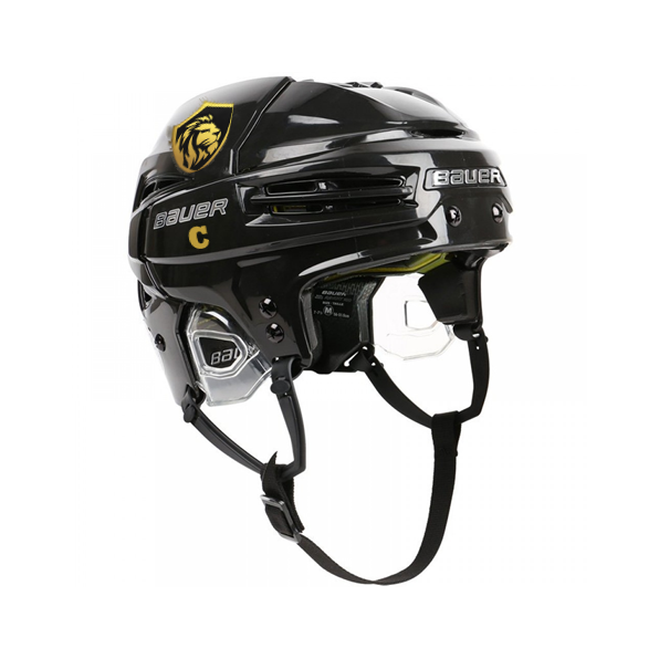 Hockey Helmet Stickers On Black Helmet