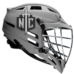 Lacrosse Helmet Stickers On Gray Helmet