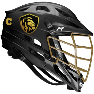 Lacrosse Helmet Sticker On Black Helmet